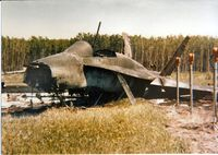 188737 @ CYOD - CAF CF-18 Hornet 188737 crashed during formation take off at CFB Cold Lake 4 June 1985.  Take-off trim was set to nose down instead of nose up.  Aircraft would not rotate even with full aft stick.   Pilot - Lt. Col. Dixon Kenny [Flight Leader]. - by CF Staff