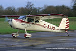 G-AJJS @ EGNW - now with its new wheel spats fitted - by Chris Hall