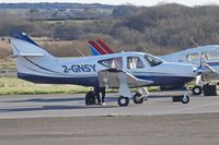 2-GNSY @ EGFH - Commander 114B, Guernsey based, previously N850DW, NX8CK, parked up. - by Derek Flewin