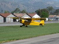 N98661 @ SZP - 1946 Piper J3C-65 CUB Continental C75 75 Hp upgrade, landing roll Rwy 22L grass - by Doug Robertson