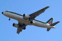 I-BIKG @ EGLL - Airbus A320-214 [1480] (Alitalia) Home~G 10/05/2011. On approach 27R.