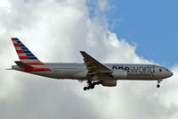 N791AN @ EGLL - Boeing 777-223ER [30254] (American Airlines) Home~G 28/05/2015. On approach 27L.