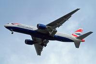 G-YMMU @ EGLL - Boeing 777-236ER [36519] (British Airways) Home~G 08/02/2016. On approach 27R.