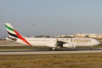 A6-ERN @ LMML - A340 A6-ERN Emirates Airlines - by Raymond Zammit