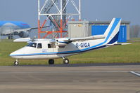 G-GIGA @ EGSH - Just landed at Norwich. - by Graham Reeve