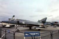 16 @ EGDY - Dassault Etendard IVM [16] (French Navy) RNAS Yeovilton~G 05/08/1978. From a slide. - by Ray Barber