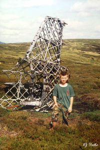 L7847 @ EGQL - Tail remains in situ at Muckle Cairn / Tom Titlach on the hills above Glen Esk in Angus, Scotland having crashed August 1942 on a training flight from RAF Lossiemouth. Uploaded for historical purposes. EGQL used for reference only. - by Clive Pattle