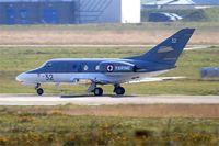32 @ LFRJ - Dassault Falcon 10 MER, Take off run rwy 08, Landivisiau Naval Air Base (LFRJ) - by Yves-Q