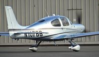 N107BB @ KRHV - Cirrus Design Corp. (Duluth, Minnesota) 2016 Cirrus SR22 G3 Turbo started up and taxing out for departure to Lake Tahoe Airport at Reid Hillview Airport, San Jose, CA. - by Chris Leipelt