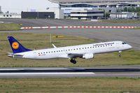 D-AEBN @ LFBO - Embraer 195LR, On final rwy 14R, Toulouse-Blagnac Airport (LFBO-TLS) - by Yves-Q