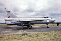 XM135 @ EGSU - English Electric Lightning F.1 [95031] (Ex Royal Air Force) Duxford~G 28/06/1975. From a slide.