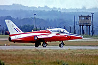 XS109 @ EGVI - Folland Gnat T.1 [FL.603] (Royal Air Force) RAF Greenham Common~G 07/07/1974. From a slide (Red Arrows).