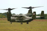 168306 @ LFRB - Presidential USMC Bell-Boing MV-22B Osprey (Code 07-cn D0223), Landing rwy 25L, Brest-Bretagne airport (LFRB-BES) - by Yves-Q