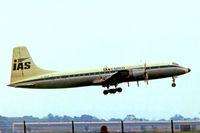 G-AOVF @ EGKK - Bristol Britannia 312F [13237] (IAS International Cargo Airlines) Gatwick~G  @ 1978. From a slide.
