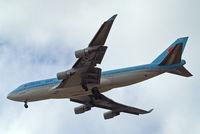 HL7494 @ EGLL - Boeing 747-4B5 [27662] (Korean Air) Home~G 04/07/2010. On approach 27R.