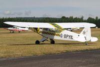 G-BPYN @ EGLM - G-BPYN   Piper J-3C-65 Cub [11422] White Waltham~G 12/07/2010 - by Ray Barber