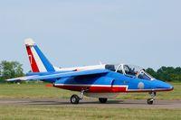 E139 @ LFOT - Dassault-Dornier Alpha Jet E (F-UGFC), Athos 07 of Patrouille de France 2015, Tours-St Symphorien Air Base 705 (LFOT-TUF) Open day 2015 - by Yves-Q