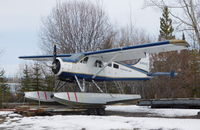 C-FDUW @ CEZ5 - In winter storage at Schwatka Lake float base (CEZ5), Whitehorse, Yukon. - by Murray Lundberg