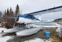CF-JRO @ CEZ5 - In winter storage at Schwatka Lake float base (CEZ5), Whitehorse, Yukon. - by Murray Lundberg