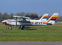 G-BTYT @ EGKA - Cessna 152 at Shoreham. Ex N24931 - by moxy
