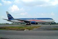 CC-CBJ @ SEGU - Boeing 767-316ER [27613] (LAN Chile) Guayaquil-Simon Bolivar Int'l~HC 02/04/2003 - by Ray Barber