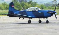 N76XC @ O69 - Ex-Austrian Air Force 1985 Pilatus PC-7 (3H-FN) repainted royal blue at Petaluma, CA home base - by Steve Nation