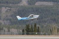 C-GAMB @ CYXY - Taking off at Whitehorse, Yukon. - by Murray Lundberg