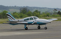N570E @ O69 - Very Sharp looking 1975 Cessna 310R arriving @ Petaluma Municipal Airport, CA home base - by Steve Nation