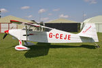 G-CEJE @ X5FB - Wittman W-10 Tailwind at Fishburn Airfield, July 2008. - by Malcolm Clarke