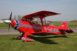 G-SJBI @ EGBR - Aviat Pitts S-2C Special. Winner of the 2010 John McLean Trophy competition at Breighton Airfield, April 17th 2010. - by Malcolm Clarke