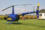 G-PIXL @ X5FB - Robinson R44 Raven II at Fishburn Airfield, July 2008. - by Malcolm Clarke