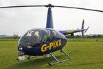 G-PIXX @ X5FB - Robinson R44 II, Fishburn Airfield, April 2009. - by Malcolm Clarke