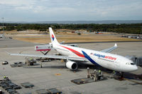 9M-MTF @ YPPH - Airbus A330-323 of Malaysia Airlines at the peer at Perth airport, western Australia - by Van Propeller