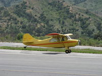 N84171 @ SZP - 1946 Aeronca 7AC CHAMPION, Continental A&C65 65 Hp, another touch & go Rwy 22 - by Doug Robertson