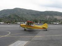 N84171 @ SZP - 1946 Aeronca 7AC CHAMPION, Continental A&C65 65 Hp, taxi to Rwy 22 - by Doug Robertson