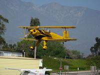 N1017U @ SZP - Locally-based 1939 CASA 1-131 Jungmann on approach @ Santa Paula Airport (Ventura County), CA - by Steve Nation