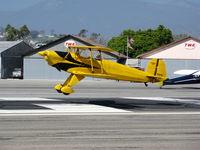 N1017U @ SZP - Locally-based 1939 CASA 1-131 Jungmann touching down @ Santa Paula Airport (Ventura County), CA - by Steve Nation