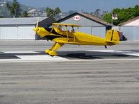 N1017U @ SZP - Locally-based 1939 CASA 1-131 Jungmann tpouching down @ Santa Paula Airport (Ventura County), CA - by Steve Nation