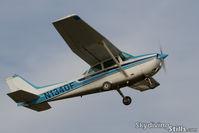 N1340F @ 7B9 - RPI Flying Club's 172 departing Ellington, CT - by Dave G
