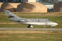32 @ LFRJ - Dassault Falcon 10 MER, Taxiing to parking area, Landivisiau Naval Air Base (LFRJ) - by Yves-Q