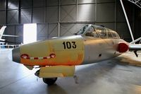 103 @ LFBO - Fouga CM-170R Magister, preserved at Aeroscopia museum, Toulouse-Blagnac - by Yves-Q