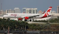 C-FJOK @ FLL - Air Canada Rouge - by Florida Metal