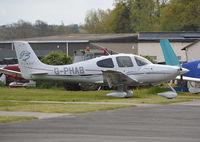 G-PHAB @ EGTF - Cirrus SR22 G3 Turbo at Fairoaks. - by moxy