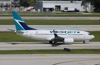 C-GWBT @ FLL - Westjet - by Florida Metal