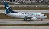 C-GWCQ @ FLL - Westjet - by Florida Metal