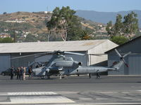 166759 @ SZP - Bell Textron AH-1Z COBRA/VIPER, two General Electric T700-GE-401C/C turboshaft rated 1,800 shp each, adjacent ex-Marine Doug Pendleton's cleared hangar for USMC Recruiting today. 166759 was first production AH-1Z delivered 25 Jan. 2007. See SZP photo. - by Doug Robertson