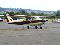N7056E @ O69 - Locally-based 1960 Cessna 175A Skylark @ Petaluma Municipal Airport, CA - by Steve Nation