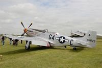 F-AZSB @ LFFQ - North American P-51D Mustang, Static display, La Ferté-Alais (LFFQ) Air show 2015 - by Yves-Q