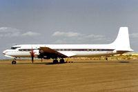N777EA @ KGYR - Douglas DC-7C [45549] Phoenix-Goodyear~16/10/1998