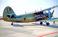 D-FUKM @ EDDB - Berlin Air Show 9.5.02 Anastasija  - by leo larsen